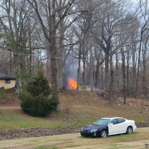 Pleasant Valley Drive fire