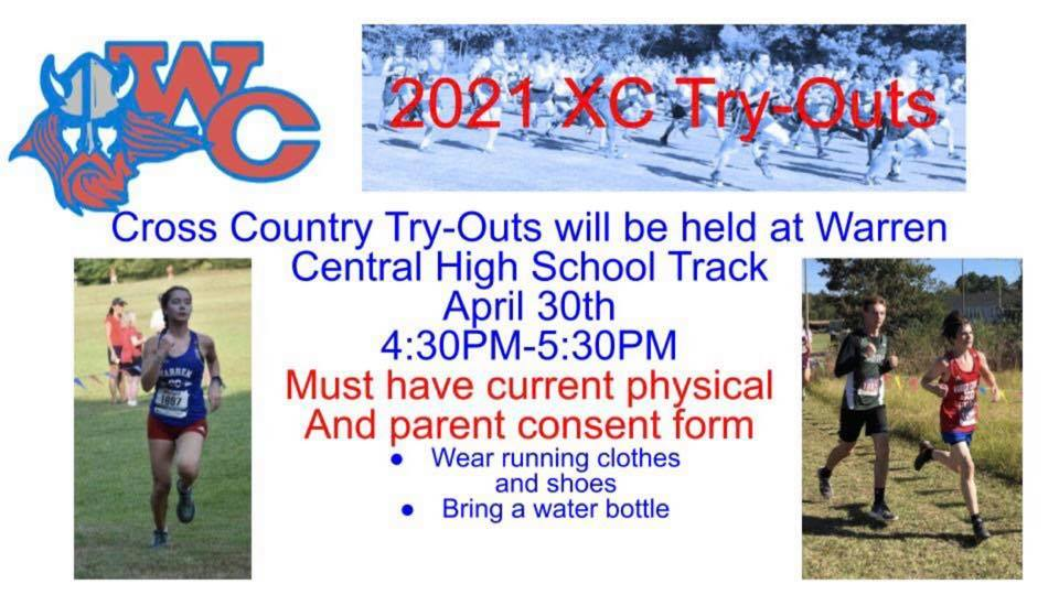 warren central track tryouts